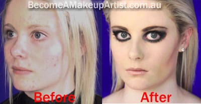 Before and After Photo of Catwalk makeup course