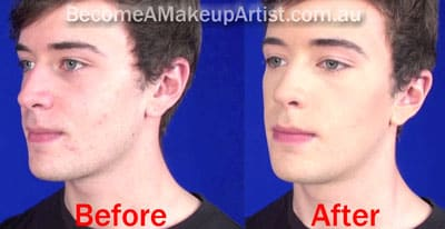 Before And After Makeup - Male makeup