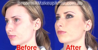 Before and After teen formal Makeup