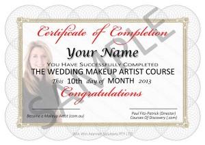 Image of Makeup Certificate