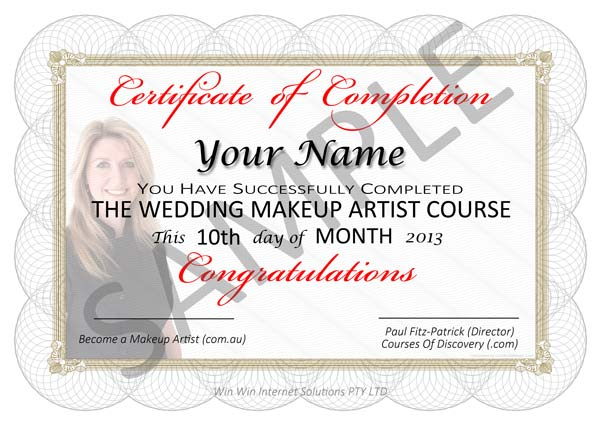Image of Makeup Certificate